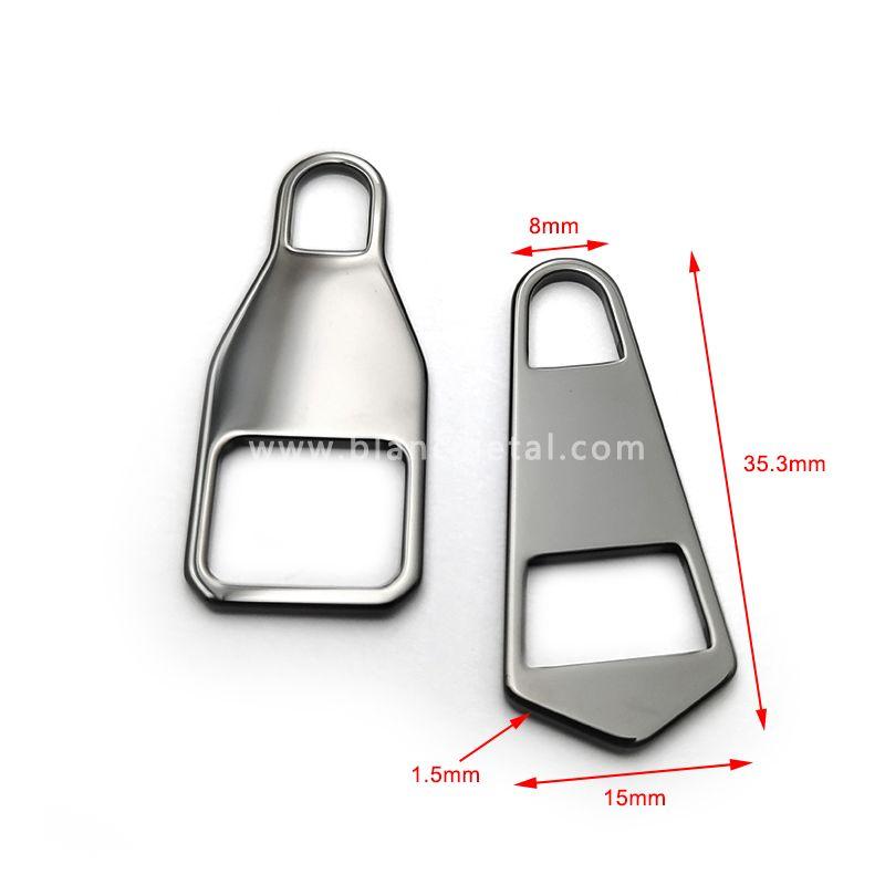 Black ceramic zipper puller