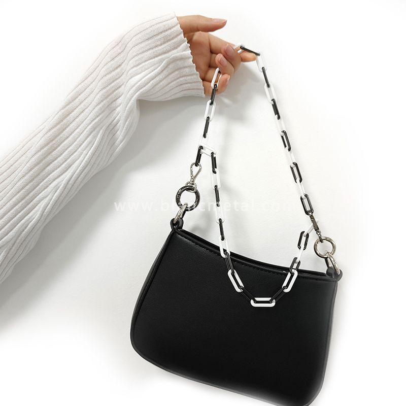 Zirconia Ceramic&Stainless Steel Black White Chain