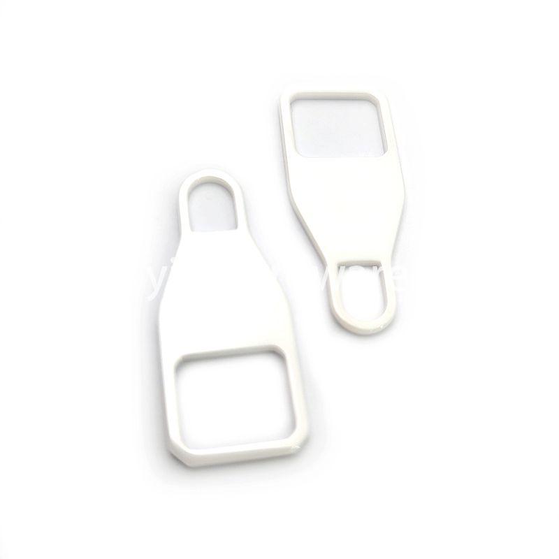 White ceramic zipper puller